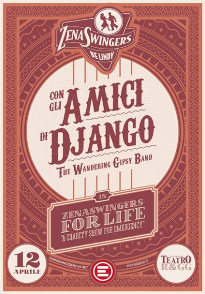 Amici di Django - Vintage poster