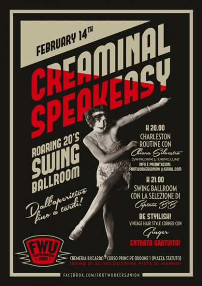 FootWorkersUnion - Poster Creaminal Speakeasy