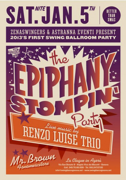 Epiphany Stompin Party 2013 - Vintage poster