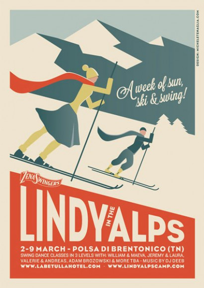 Lindy in the Alps - Vintage poster