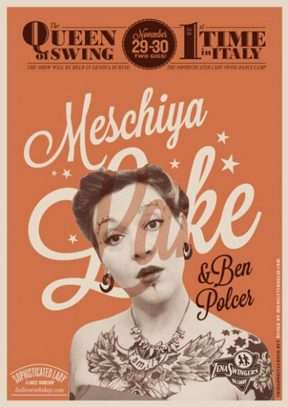 Meschiya Lake and Ben Polcer - Vintage poster