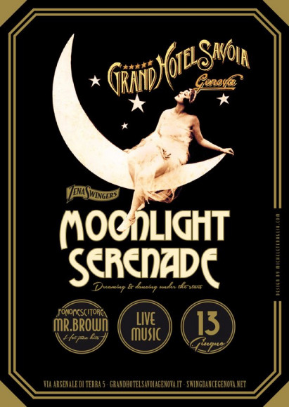 Moonlight Serenade - Vintage poster