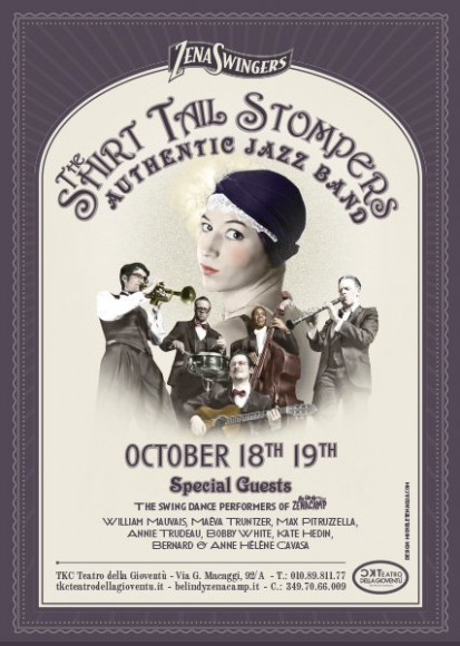 The Shirt Tail Stompers - Vintage poster