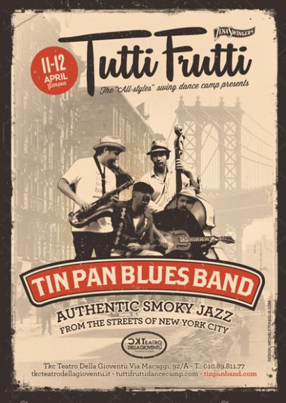 Tin Pan Blues Band - Vintage poster