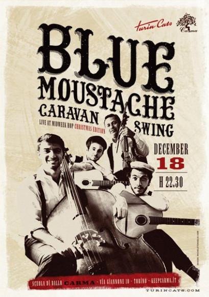 Turincats - Poster Blue Moustache