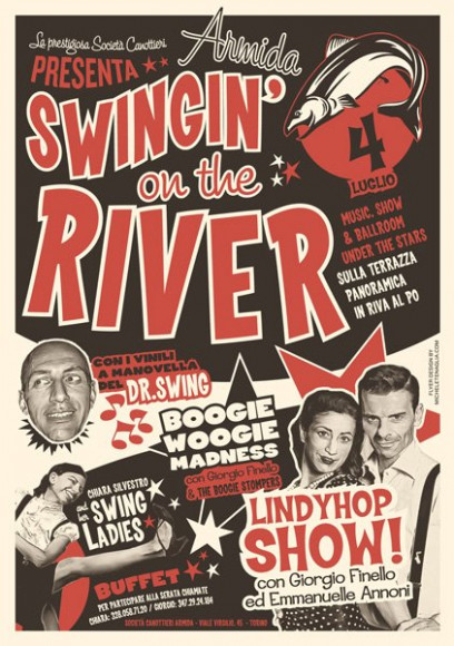 Turincats - Poster Swingin'on the River 2013