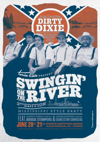 Turincats - Poster Swingin'on the River 2014