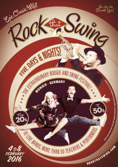 Rock That Swing Festival 2016 Vintage Poster