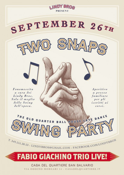 Two Snaps Vintage Party Poster