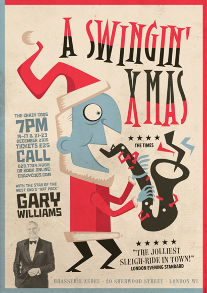 A Swinging Xmas - Poster for the Christmas Show of the British singer Gary Williams