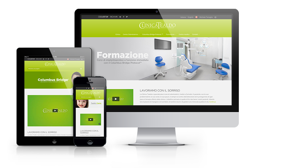 Clinica Tealdo - Web design