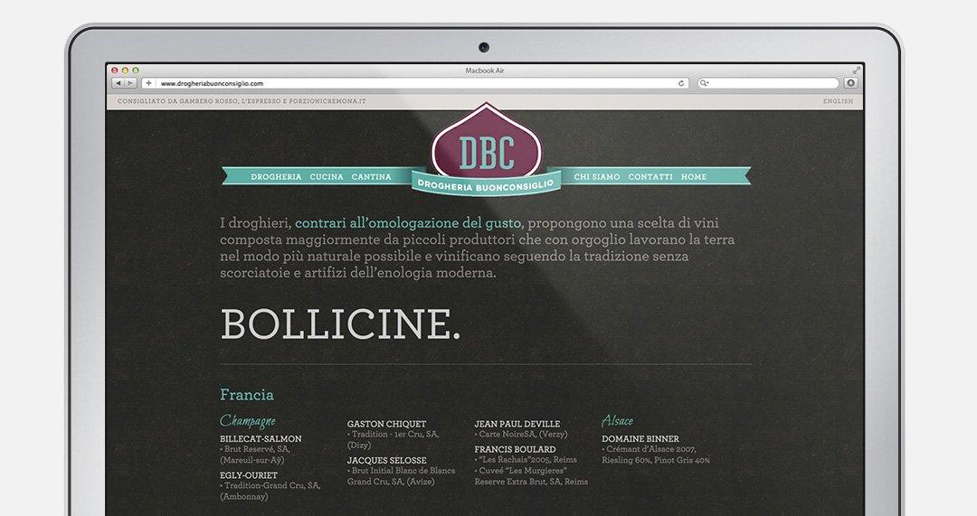 Drogheria Buonconsiglio - Web design