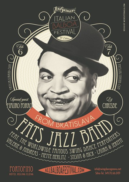 fats jazz band vintage poster