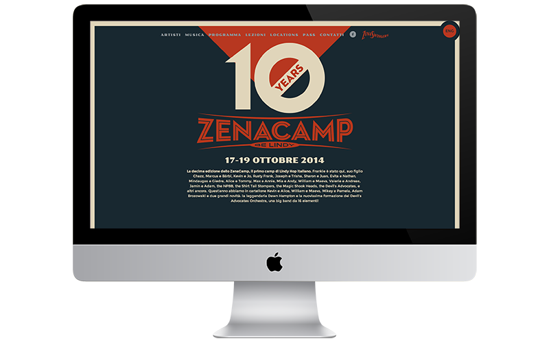 Zenacamp - Web design