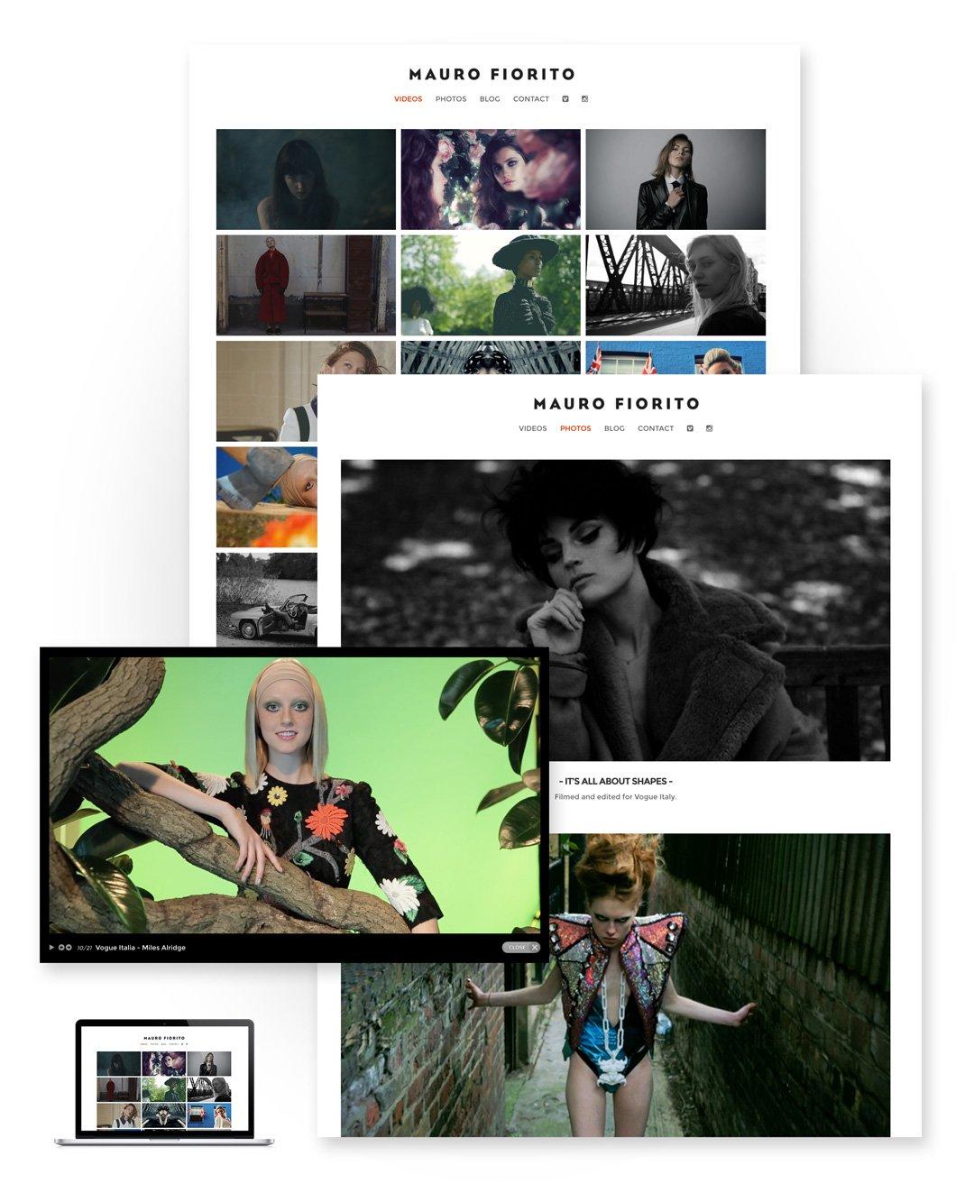 Mauro Fiorito Filmmaker - Web design minimal