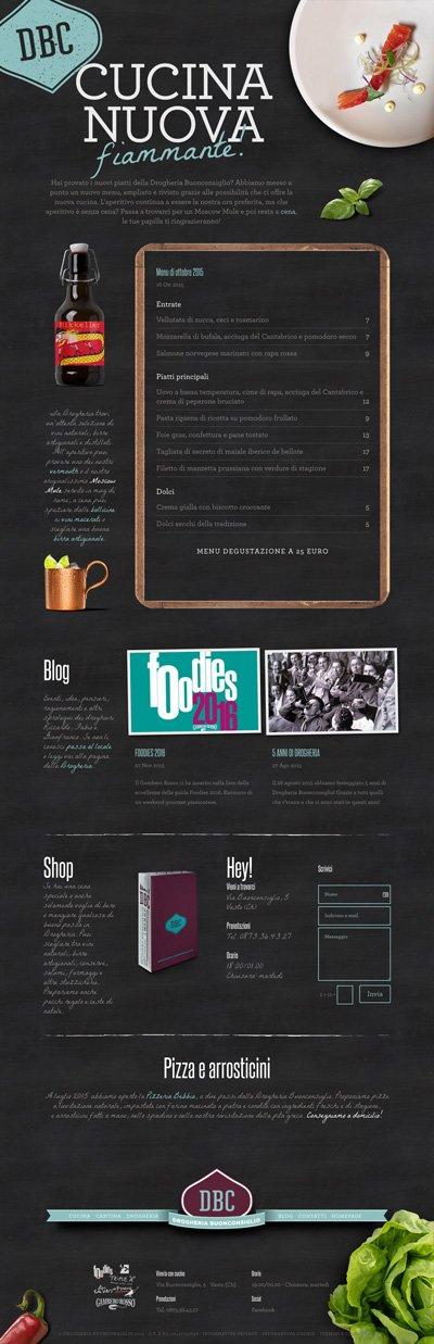 Drogheria Buonconsiglio - Web Design - Homepage