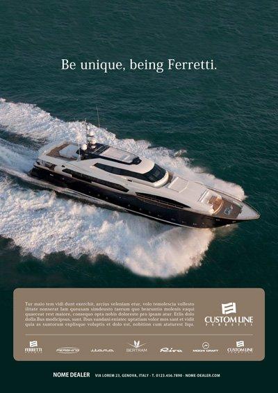 Format dealer - Ferretti Custom Line Yacht