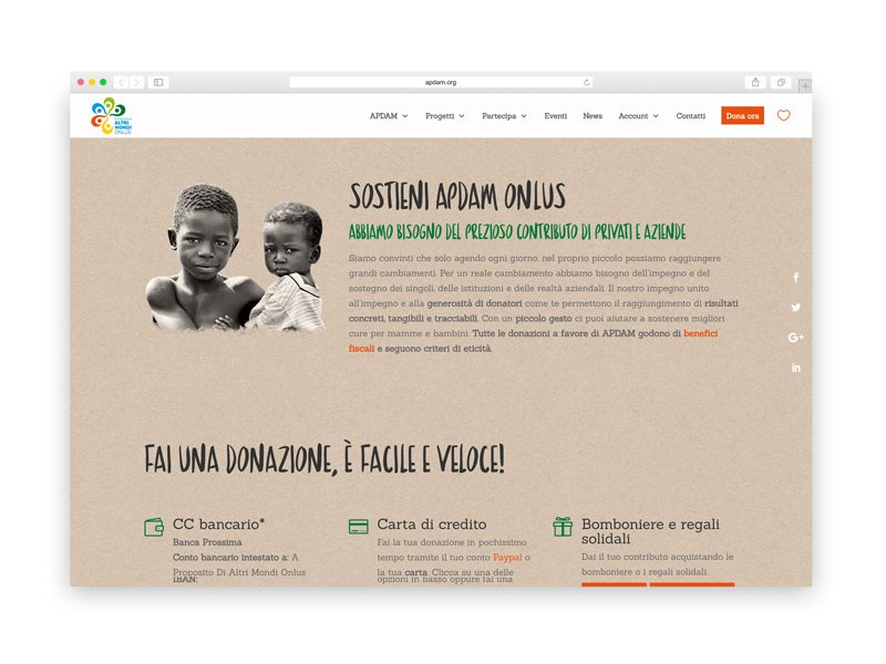 Apdam - Web design
