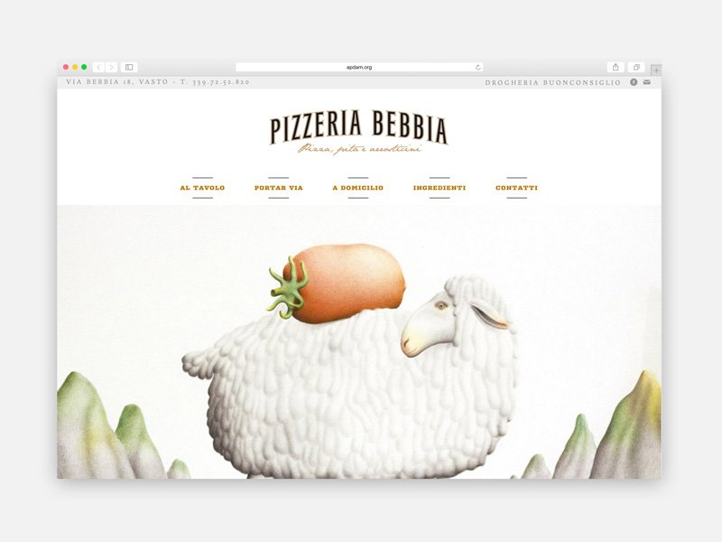 Pizzeria Bebbia - Web design