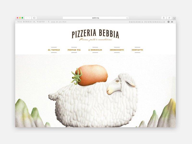 Pizzeria Bebbia - Web design