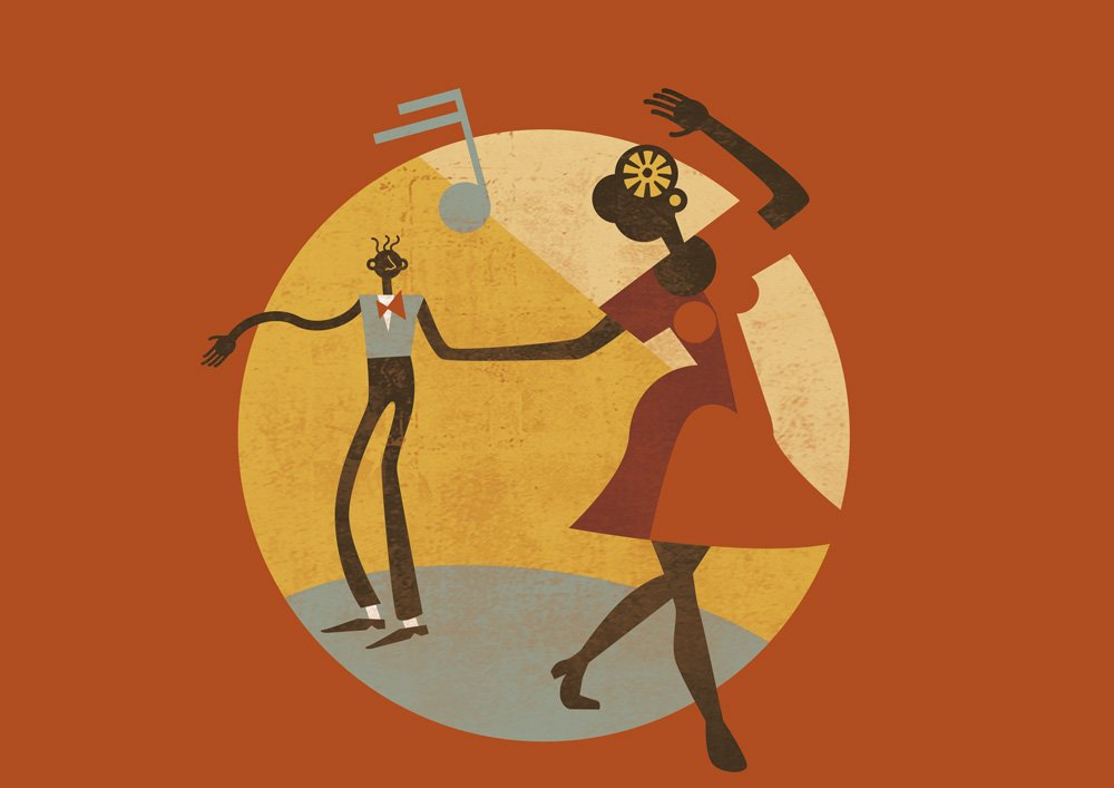 Feel Good Swing - Illustrazione - Lindy Hop